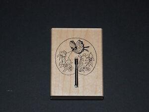 Hobby Art Butterfly Fan Rubber Stamp