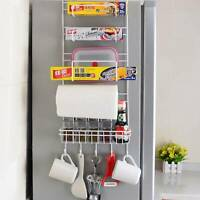 5Tiers Iron Wall Mount Kitchen Freezer Door Spice Rack Cabinet Organizer Storage