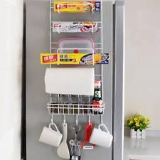 5Tiers Iron Wall Mount Kitchen Freezer Door Spice Rack Cabinet Organizer Storage