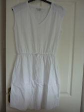 Boden Mya Jersey Vestido Cintura con Cordón Blanco Reino Unido 12 de largo, EUR 38-40, US 8. WW023