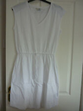 BODEN MYA JERSEY DRESS DRAWSTRING WAIST WHITE UK 12 LONG, EUR 38-40, US 8. WW023