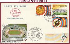 ITALIA FDC CAVALLINO MONDIALI ITALIA '90 UDINE STADIO FRIULI 1990 T8