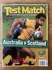 Wallabies Australia v Scotland 2004 Melbourne Rugby Union Match Programme