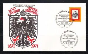 Germany Berlin 1971 FDC cover Mi 385 Sc 9N304 Imperial Eagle Type of Germany