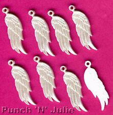 PEARLESCENT WHITE ANGEL WINGS Christmas Heaven Peace Dress It Up Craft Charms