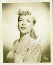 "Evelyn Knight, 40's & 50's Singer, Signed & Inscribed 8"" x 10"" B & W Photo, COA"