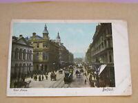 1904 fr postcard - busy scene - Royal Avenue Belfast