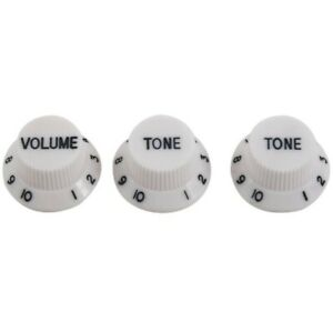 Stratocaster Knobs - Electric Guitar - White x3
