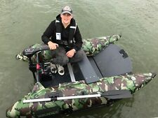Inflatable Floating Dock Pier Pontoon Fishing Platform Dingy Raft Boat W/ Pump