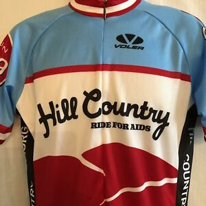 Voler Hill Country Ride for AIDS Cycling Jersey Mens 3XL Blue Austin TX 10th Ann