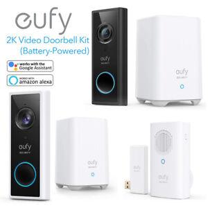 eufy Security Wireless Video Doorbell Kit 2K HD Camera Smart Door Ring Intercom