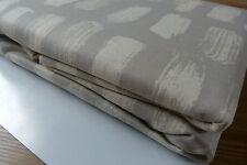 """100% Cotton Mocha Cream Paintbrush Eyelet Curtains 66x90"""" 168x228cm UNLINED"""