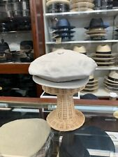 Borsalino Summer Linen Newsboy Cap Made In Italy Size XL