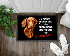 Fußmatte Schmutzfangmatte Türmatte Personalisiert Hund Vizsla Dog Geschenk