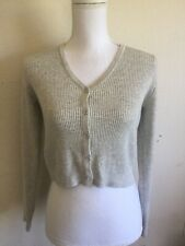 brandy melville heather gray crop v neck Shannon cardigan sweater NWT sz S