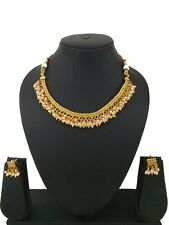 Indian Fashion Jewelry Bollywood Necklace Set Ethnic Gold palted Traditional Set