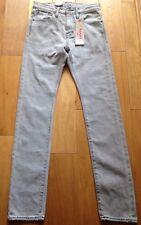 LEVI'S STRAUSS & Co.  510 Grey Skinny Slim Fit Denim Jeans.  W 27 L 32. NWT