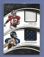 AARON RODGERS / EDDIE LACY - PACKERS - DUAL GAME USED JERSEY - SERIAL #'d 5/25