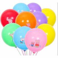 "10 X 12"" PEPPA PIG  Multi Colour Latex Printed Balloons Birthday Party"