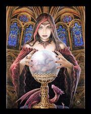 Kleine Leinwand mit Hexe - Crystal Ball - Lisa Parker Fantasy Bild Poster