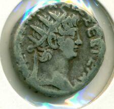 Wife of Nero Tetradrachm 54-68 Alexandria Poppaea Nero Billion Silver F/VF