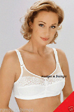 NEW MISS MARY OF SWEDEN WHITE MINIMISING SUPPORT BRA 2313 IN PLUS SIZES 36E-48E