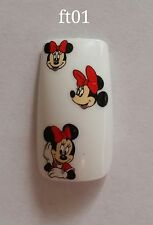 Nail Art Water Transfer Minnie Mouse Decal #469 BLE2253 Sticker Red Bow