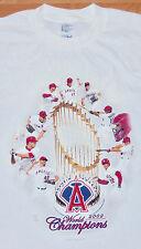 Anaheim Angels WHITE 2002 World Champions T Shirt SZ. XL MLB BASEBALL RARE PROMO