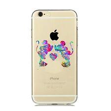 iPhone 5/5s/SE carcasa gel silicona transparente Dibujos disney mickey Minnie