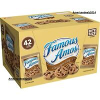 Famous Amos Chocolate Chip Cookies (2 oz.) 42 Pack Brand New Fresh Cookies!!