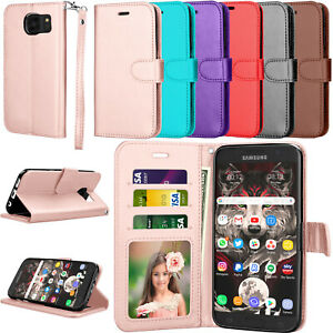 For Samsung Galaxy S7/S8/S9/S10/+ Plus/Note 9 Case Wallet Flip Card Cover Stand