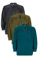 New Men's Medieval Style Shirt Lace up Cotton up to Plus Size