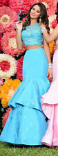 Envious Couture Two Piece Prom Pageant Gown Size 8 Turquoise BNWT