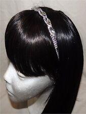 Ladies/Girl's Rhinestone Crystal Marquise Trimmed Stretch Hairband (NWT)