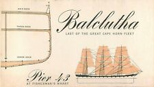 Balclutha Clipper Ship Pier 43 Fishermans Warf historical Brochure Phamplet