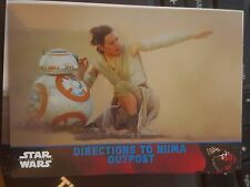 2015 Topps Star Wars The Force Awakens #78 Directions to Niima Outpost BLUE