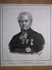 Gravure de presse 1888, Monseigneur le Chanoine de Haerne