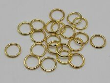 600Pcs Golden Plated Open Jump Ring 8X1mm Circle Connector Jewelry Making