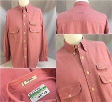 Orvis Buzz Off Oxford Shirt L Pink 100% Cotton Made In India Pockets YGI 6443