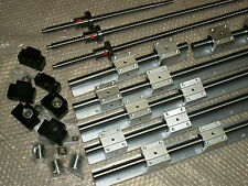 SBR16-300/1000/1500mm linear rail set+3 16mm ballscrew RM1605+BKBF12 bearing CNC