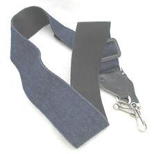 "PRINZ  CAMERA STRAP~2"" Wide DENIN BLUE~Leather End+Swivel Clips #190-25"