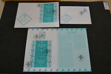 Stamp & MS/SS Souvenir Sheet Card + 2 FDC Aga Khan Diamond Jubilee 2018 Portugal