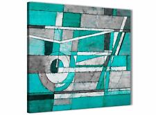 Turquoise Grey Painting Bathroom Canvas Accessories - Abstract 1s403s - 49cm