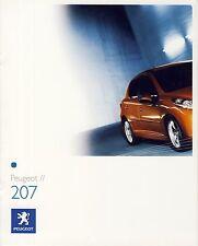 Peugeot 207 2006 catalogue brochure rare