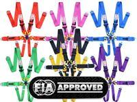 STR 6-Point Race Harness FIA 8853-2016 (2025) Approved Safety Seat Belt IVA Safe