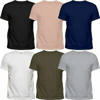 6 Pack Mens Plain Cotton Blank Basic T Shirt Casual Top Assorted Multi Lot Singl