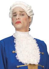 Mens Long White Lace Jabot Neck Ruff