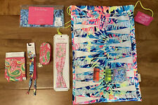 NWT Lilly Pulitzer 6 Piece Lot Game Backpack Manicure Set Pencil Pouch Hair GWP