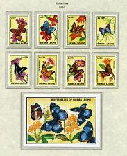SIERRA LEONE   MNH   1628-42   Butterflies      XF448
