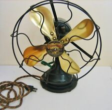Colonial Antique 8-inch Brass Electric Fan-  Ca.1909 - Working